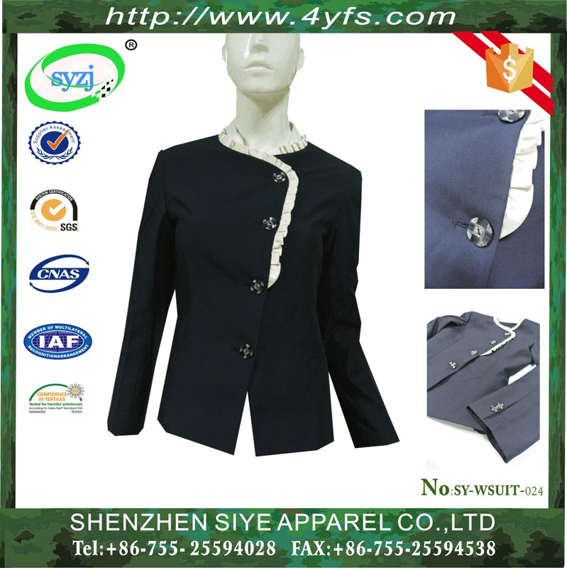 Anti-shrink Fancy Suits for Ladies and Business Suit for Women