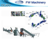 PET bottle plastic recycling machine ,washing line with pelletizing line