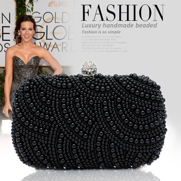 Women Clutch Bag Beaded Party Bridal Handbag Wedding Evening Purse