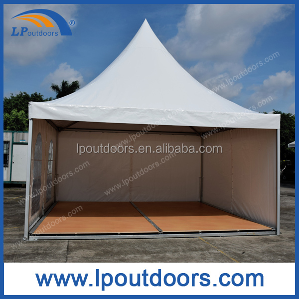 5x5m aluminum frame outdoor pagoda tent gazebo with wood flooring for wedding event