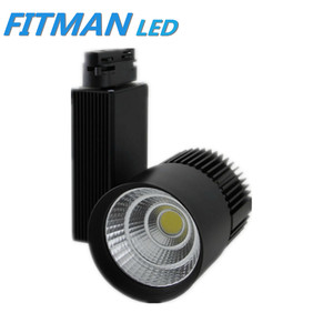 commercial led light CE black 30w cob led track light for shop