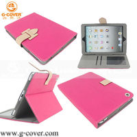 Hot selling pink leathe caser for ipad Mini