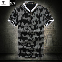 Fashion custom decorative pattern dri fit shirt/mens polo shirt wholesale