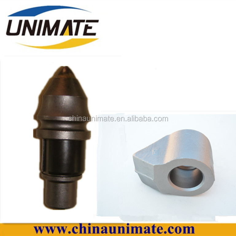 China rotary drilling parts/ bullet bits/ round shank cutter bits