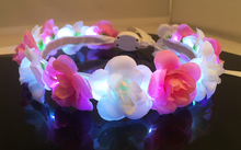NEW design led headbands Festival party decoration rose flower crown