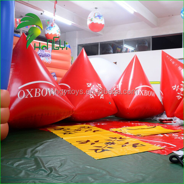 Cheap Large Custom Made Triangle Advertising Swim Floating Inflatable Buoy/Inflatable Water Products On Sale