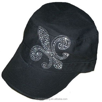 hot fix rhinestone cross iron on transfer for hat