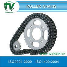 motorcycle chain set with Front and rear wheel