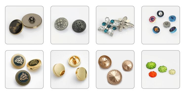 Luxury Sewing Buttons Metal Coat Buttons Crystal Metal Sew on Buttons