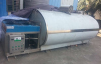 1000 3000 Liter Used Milk Cooling Tank for Sale