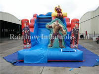 2016 new style Inflatable slide Inflatable standard slide muscle man cartoon theme for kid
