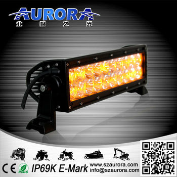 Waterprooof High Power 10 inch LED Amber color led light bars