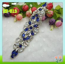 New collection decorative wholesale bridal rhinestone appliques