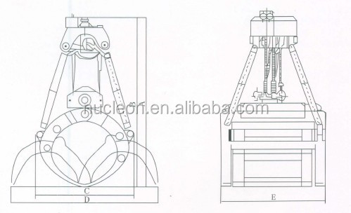 Dredging Hydraulic Clamshell Grab Bucket for Excavator