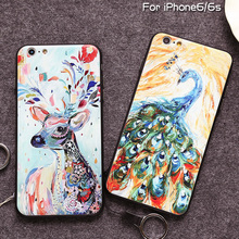 Brand Citycase Oil Painting Abstract Painting Animals Style phone case cover for mobile iphone 6 6S 6Plus TPU PC