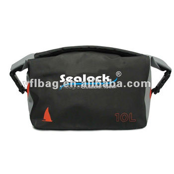 10L black waterproof folding pvc travel duffel bag