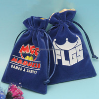 customized logo printed drawstring jewelry pouches colorful velvet bags for jewelry with satin linen