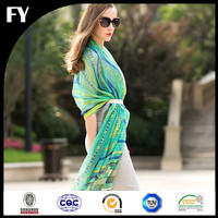 FY Scarf Custom 100 Pashmina Scarf for Women Digital Printing Silk Chiffon Factory