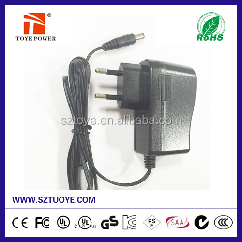 Efficiency Level VI !!! Europe plug adapter 12v 1a dc power supply