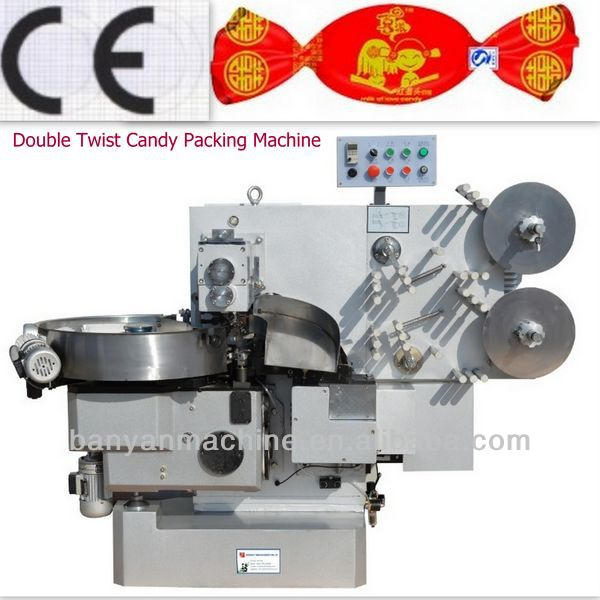 2017 Automatic Toffee Candy Double Twist Wrapping Machine