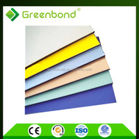 Greenbond aluminum decorative wall of design acp sheet recycled plastic panels