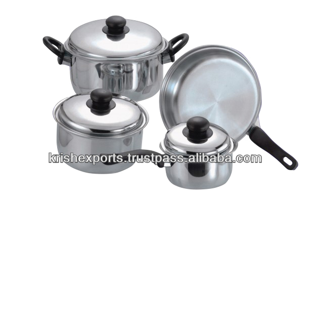 Regular Cookware Set with Bakelite Handle - 7 & 12 Pcs