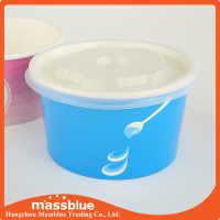 Paper ice cream container for ice cream pack
