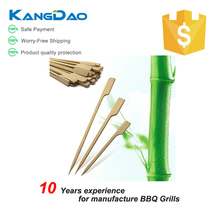 Factory price bamboo marshmallow sticks flat kabob skewers