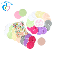 Washable Colorful Soft Nursing Pads Organic Breathable Bamboo Nursing Pads
