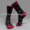 Low MOQ Knitted Designs Cotton Mustache Beard Men Crew Socks
