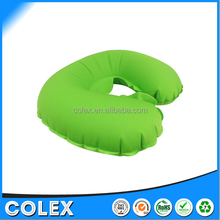 U-Shape Inflatable Neck Pillow Ultralight Portable Compact Comfortable Travel Pillow for Sleeping on Airplane Car Train and Bus