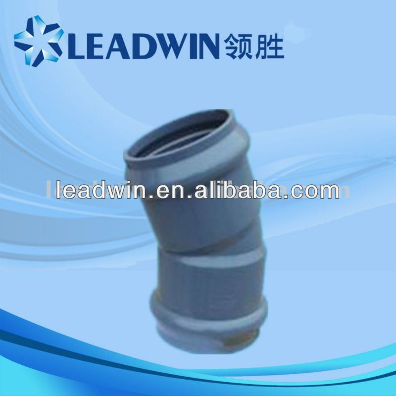 PVC pipe fitting 22.5 degree elbow for water supply
