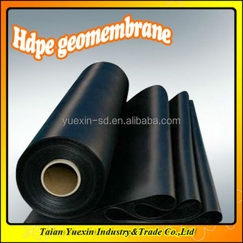 high-density polyethylene geomembrane (HDPE)