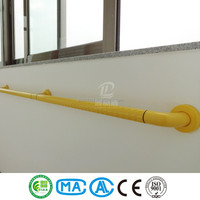 Plastic nylon handrail for hospital stairs