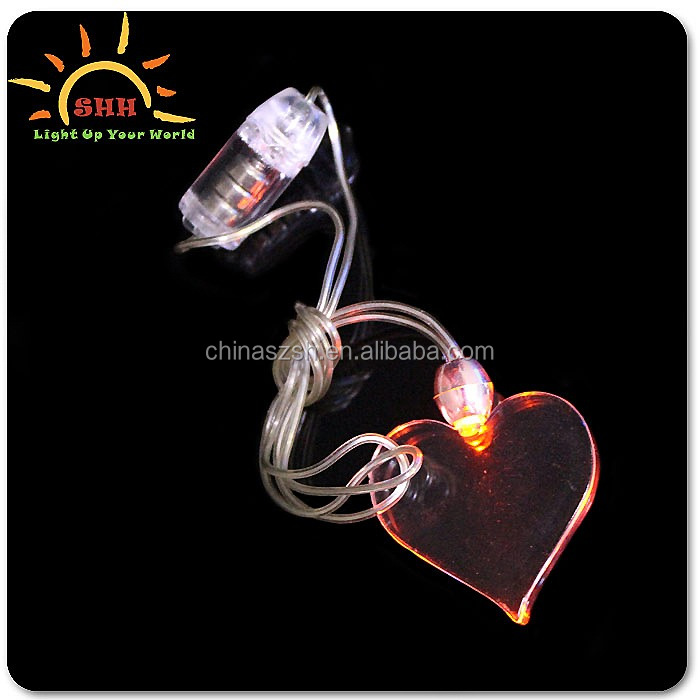small gift items LED Blinking Necklaces for valentine promotion
