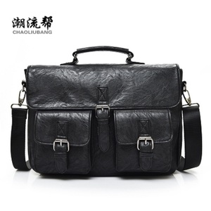 Manjianghong high quality leather messenger bag pu bag for men
