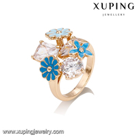 14393-18k gold fine jewelry china korean finger ring