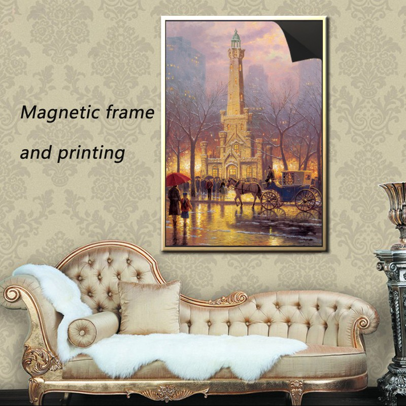 factory custom wood photo booth strip magnetic frame & print magnetic paintings Thomas kinkaides 1013-193