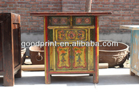 vintage furniture reproduction hand painted console cabinet