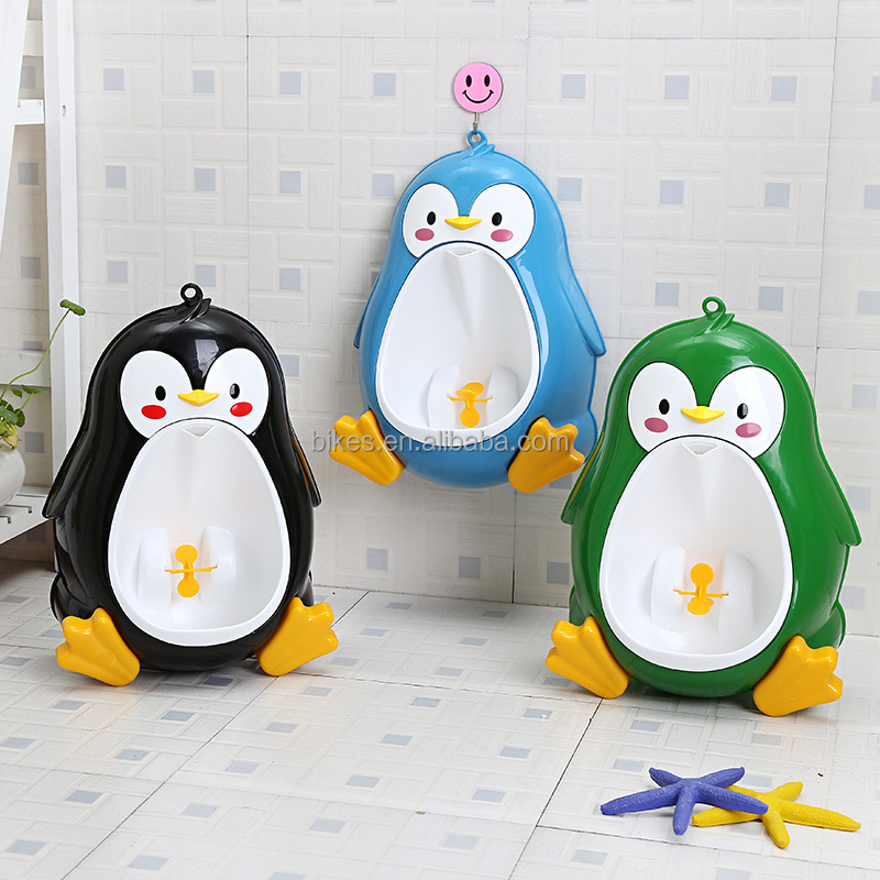Cute Penguin Pot Wall-Mounted Training Boy Urinals Portable Leakproof Kids Toilet Children's Potty Boy Toilet