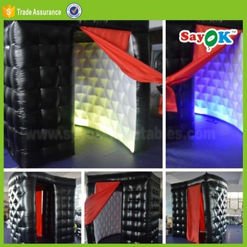 led inflatable foldable photo booth for sale portable photobooth kiosk