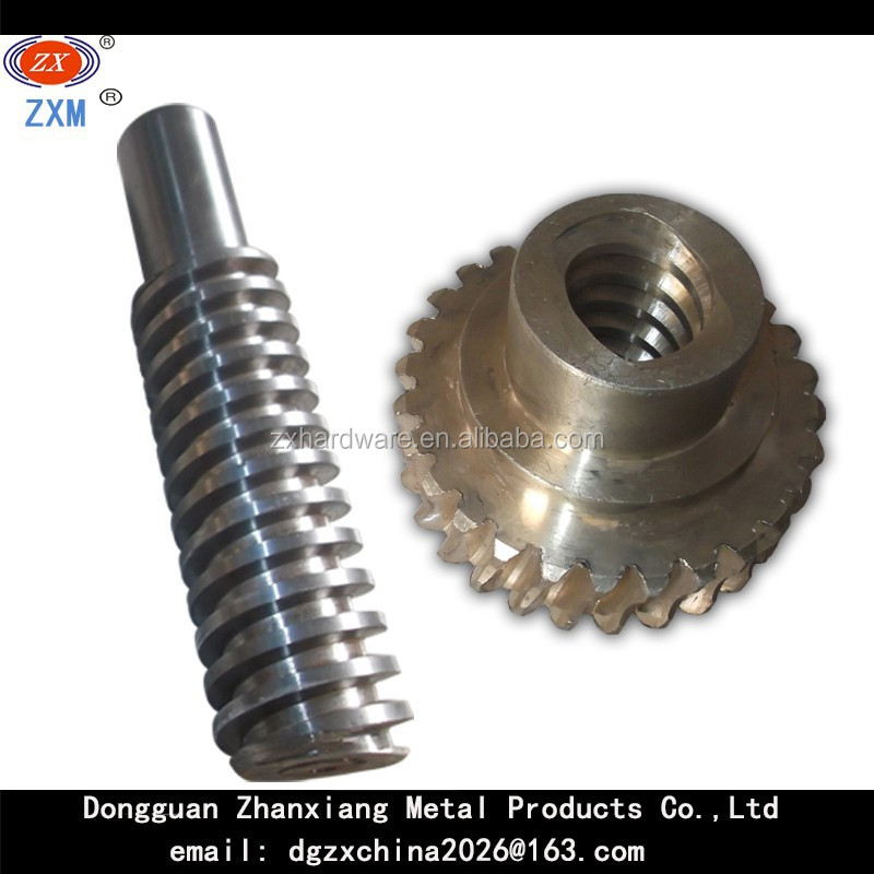 Precision worm gear and warm shaft