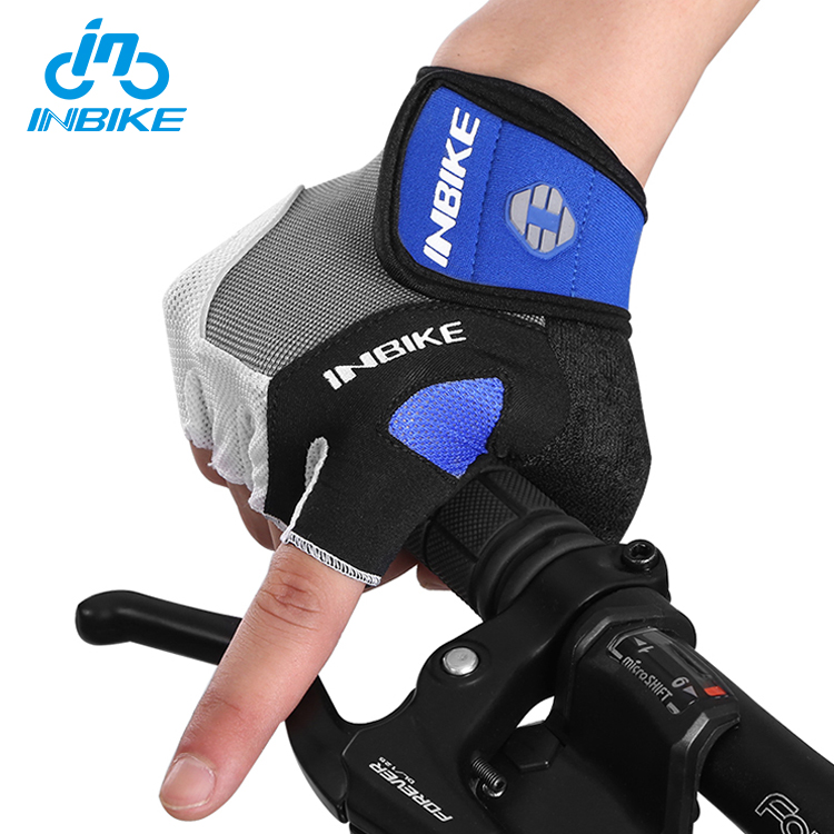 INBIKE Non-Slip Polyester Motorbike Padded Bike Sport Racing Half Finger Gloves