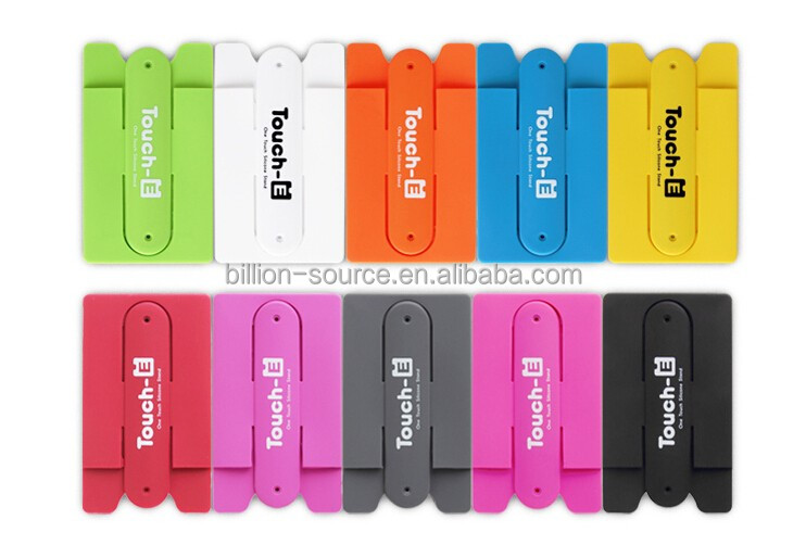 Wholesale silicon back phone pouch,silicone card holder