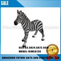 Park Decoration Baby Zebra Resin Statue (16WL0120)