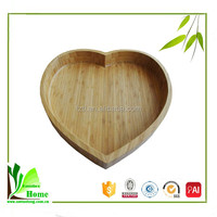Fruit plate bamboo food container