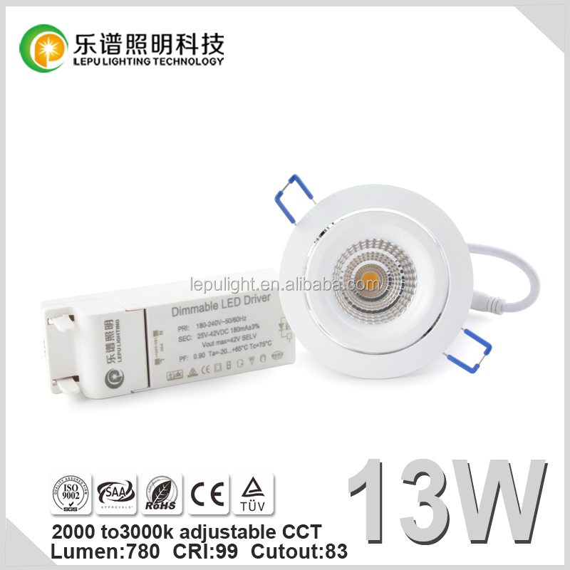8 watt 13 watt led downlight 2000k to 3000k dimmable 5 years warranty with 5second fast install hot selling for European