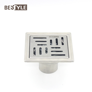 SUS 304 Drain Grating Covers Self Seal Concealed Floor Drain With Plastic Drain Core