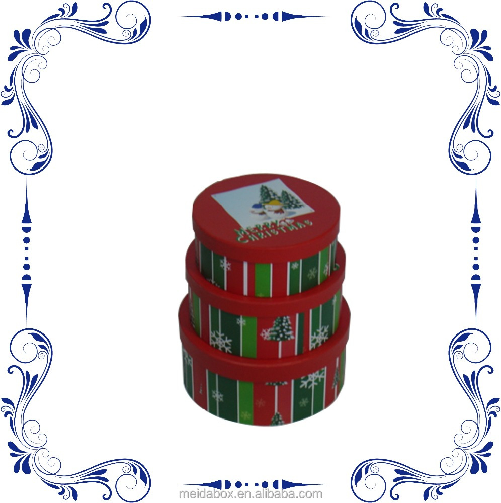 New Design Xmas Round Box Gift