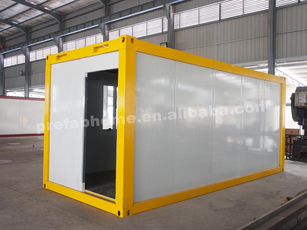 Convenient prefab cheap price container houses flat package movable home